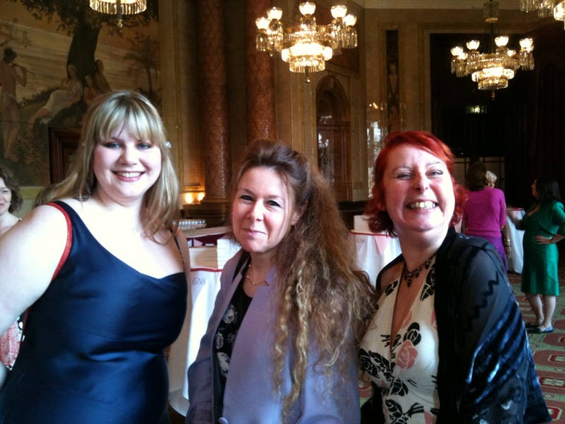 image showing With Fellow Choc-Liteers, Kate Johnson & Jane Lovering