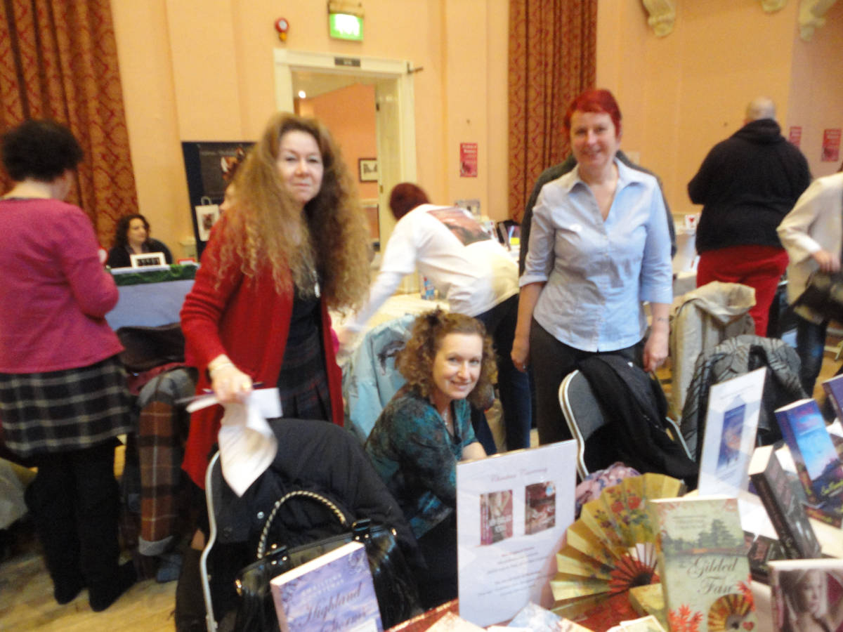 image showing With Sue Moorcroft and Jane Lovering at the fair