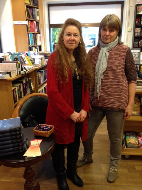 image showing Meeting fellow author Ewa Klingberg in Eksjö was a highlight!