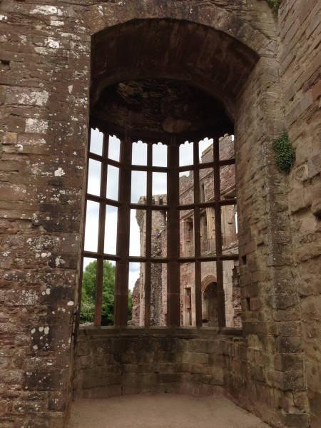 image showing Raglan Castle, the oriel window