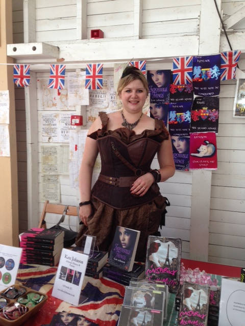 image showing Kate Johnson in her gorgeous steampunk outfit