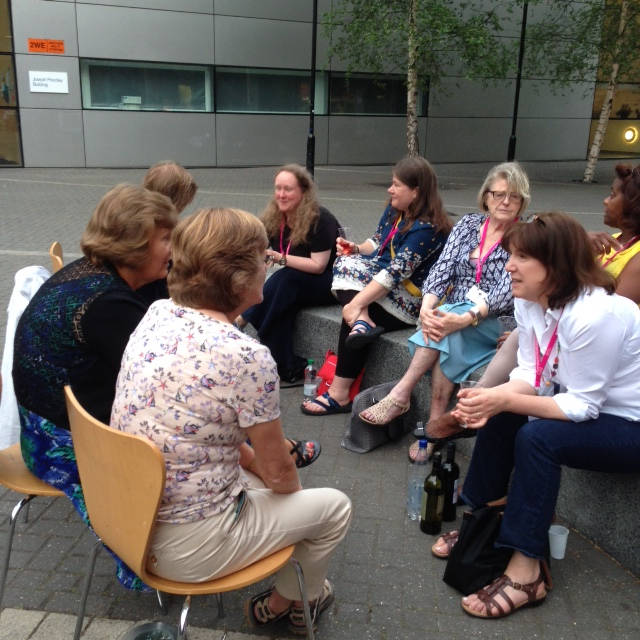 image showing Some of the conference first-timers looked after by Katy Haye