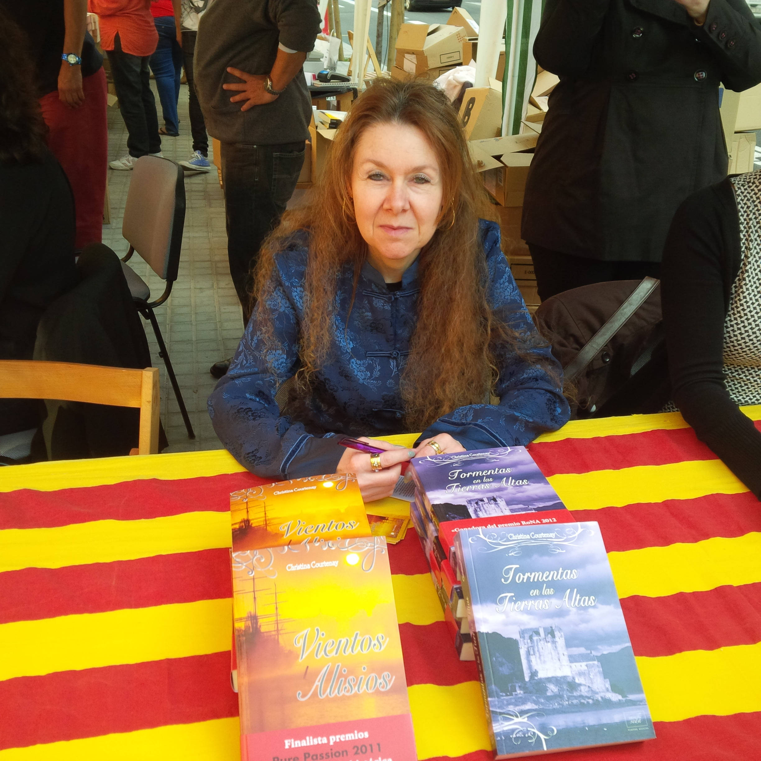 image showing Me at the Libreria Maite Stand
