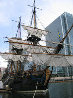 image showing The Götheborg Moored at West India Dock, London